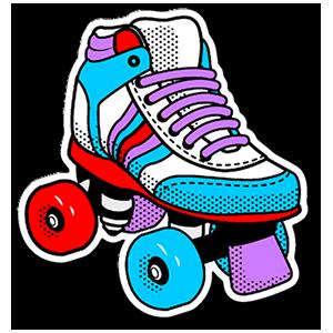 80's Roller Skates Sticker