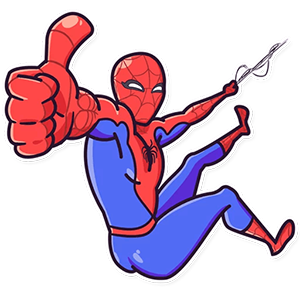 Spider-Man OK sticker