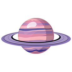 Saturn Planet Sticker