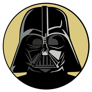 Star Wars Darth Vader Round Sticker