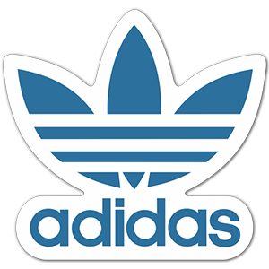 Adidas logo blue Sticker