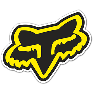Fox Racing black yellow logo sticker