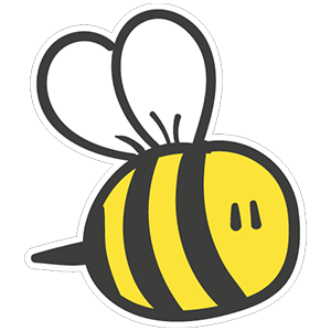 Sticker honeybee