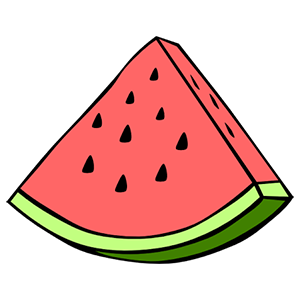 Watermelon Slice Sticker