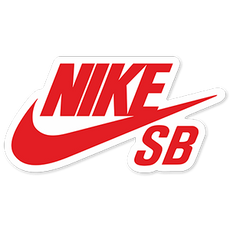 Red Nike SB Logo Sticker