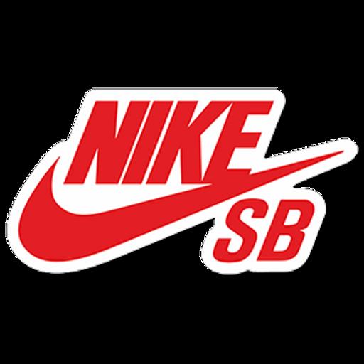 Red Nike SB Logo Sticker