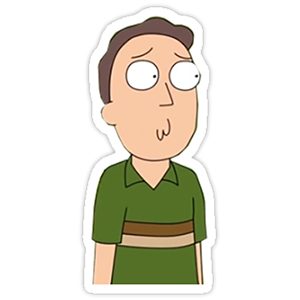 Jerry Sticker from Rick and Morty
