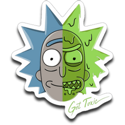 Acid Rick sticker from Rick and Morty
