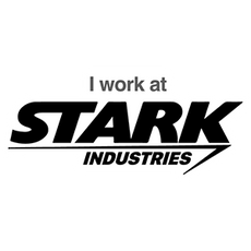 Marvel Iron Man - I work at Stark Industries Sticker