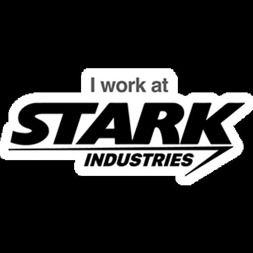 Marvel Iron Man - I work at Stark Industries Sticker
