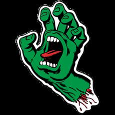 Santa Cruz Screaming Hand Sticker