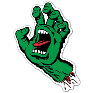 Screaming Hand sticker Santa Cruz Skate