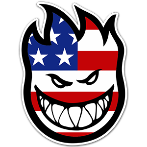Spitfire US Flag Skateboard Sticker