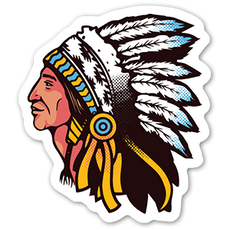 Indian Chief Sticker
