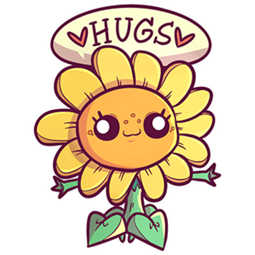Plants vs. Zombies Sunflower Hugs Sticker