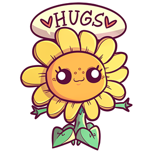 Sunflower Hugs sticker