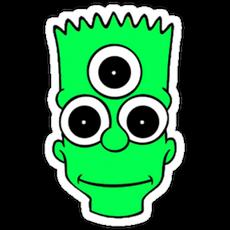 Bart Simpson Green Sticker