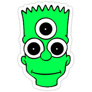 Bart Simpson Green Sticker