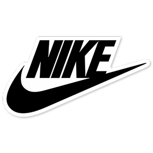Nike Black Logo Sticker