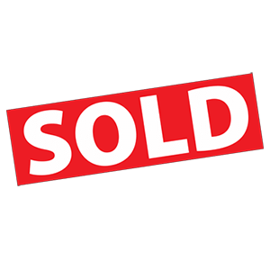 Red Sold Sticker