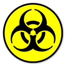 Biohazard Symbol Nuke Sticker