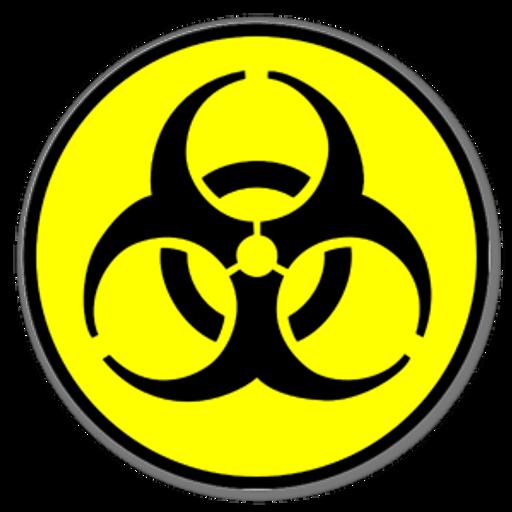 Biohazard Symbol Nuke Sticker