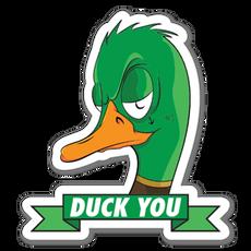 Duck You Sticker
