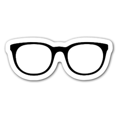 Black Glasses Sticker