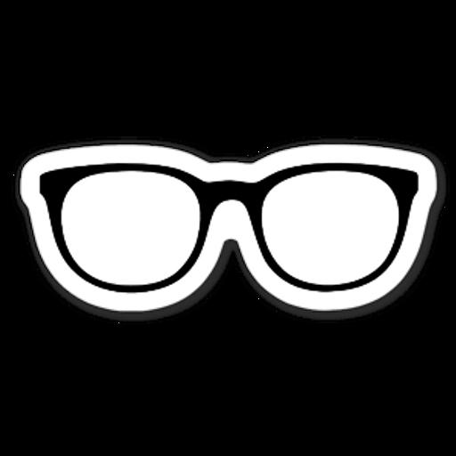Black Glasses Sticker