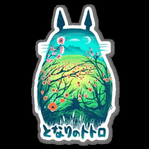 My Neighbor Totoro by Victor Vercesi sticker