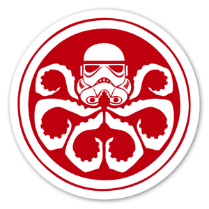 Marvel x Star Wars Stormtrooper Hydra Logo Sticker