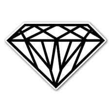 White Diamond Sticker