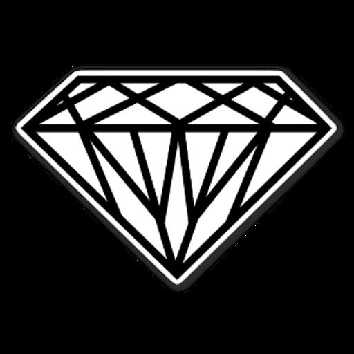 White Diamond Sticker