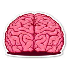 Pink Brain Sticker