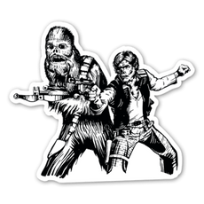 Star Wars Han Solo Chewbacca Zombie Sticker