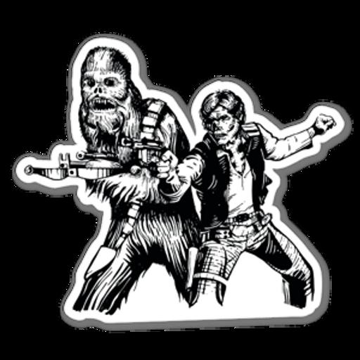 Star Wars Han Solo Chewbacca Zombie Sticker