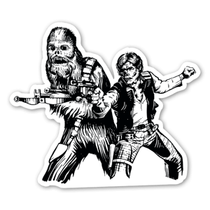 Star Wars Han Solo Chewbacca Zomby