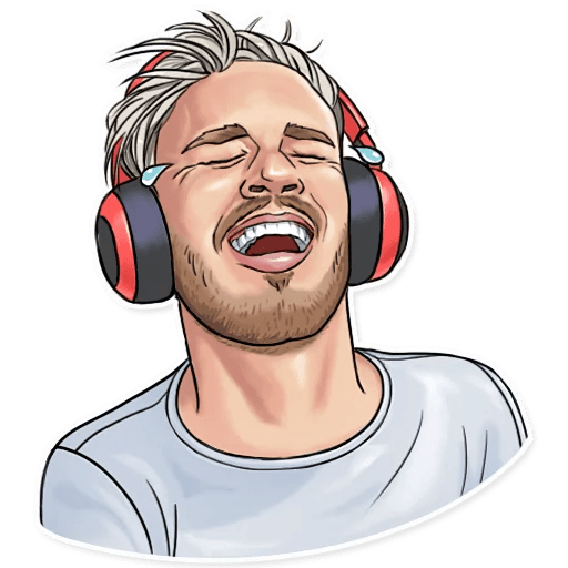 PewDiePie Tears of Joy Sticker