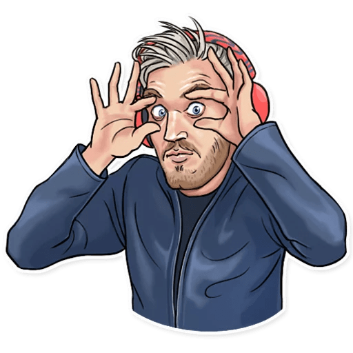 PewDiePie Wide Eyes Sticker