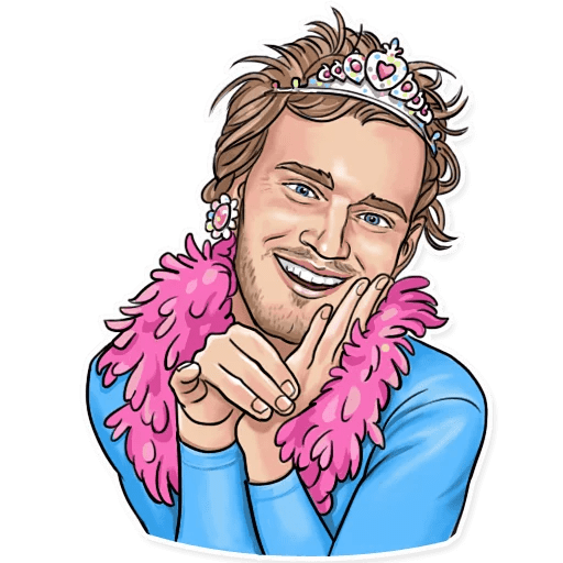 PewDiePie Princess Sticker
