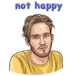 PewDiePie Not Happy Sticker