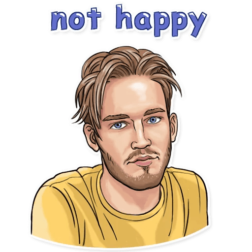 PewDiePie Not happy