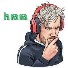 PewDiePie Hmm Sticker