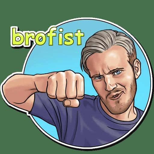PewDiePie Brofist Sticker