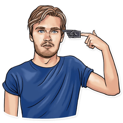 PewDiePie Foam Finger Shoot Sticker