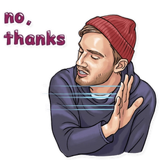 PewDiePie No, Thanks Sticker