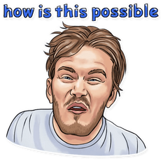 PewDiePie How is this Possible Sticker