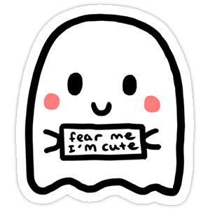 Cute Ghost Sticker