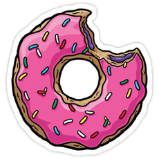The Simpsons Donut Love Sticker
