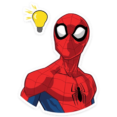 Spider-Man Idea Sticker